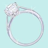 diamentowy pierścionek Fotografia Stock