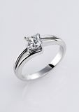 diamentowy pierścionek Fotografia Royalty Free