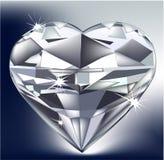 diamentowy serce Obrazy Stock