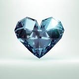 Diamentowy serce Fotografia Royalty Free