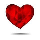 Diamentowy serce Obraz Royalty Free