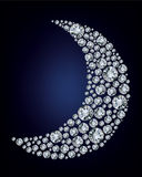 diamentowy udział zrobił księżyc target756_0_ diamentowy royalty ilustracja