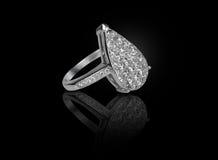 diamentowy wspaniały pierścionek Zdjęcia Stock