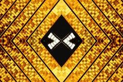 diamentowy złota abstrakcyjny kształt Obrazy Royalty Free