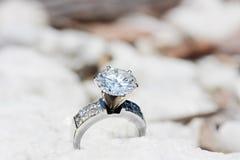 Diamentu duży Pierścionek Obraz Royalty Free