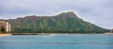 Diamentu Kierowniczy krater, Hawaje Obraz Stock