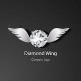 Diamentu loga skrzydłowy wektor obraz stock