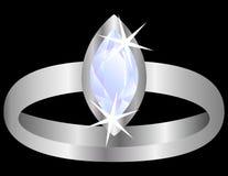 Diamentu Pierścionek Zdjęcia Royalty Free