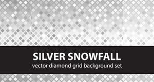 Diamentu wzoru setu srebra opad ?niegu Wektorowi bezszwowi geometryczni t?a royalty ilustracja