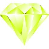 diamentu zieleni odosobniony biel ilustracji