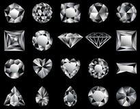 diamenty ilustracja wektor
