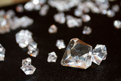 Diamenty i kryształy obrazy stock
