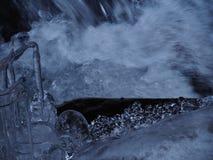 Diamenty lodowa pobliska siklawa Obrazy Stock