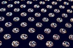 Diamenty układający w rzędach Zdjęcie Stock