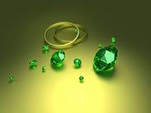 Diamenty z pierścionkami royalty ilustracja