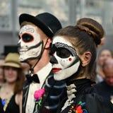 Diameter de los Muertos karneval Arkivfoton