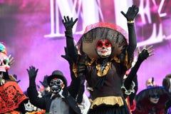 Diameter de los Muertos karneval död dag Royaltyfria Bilder