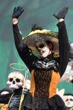 Diameter de los Muertos karneval död dag Arkivfoto