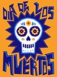 Diameter de los Muertos - mexicansk traditionell ferie royaltyfri illustrationer