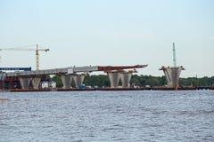 Diametro ad alta velocità occidentale della costruzione, supporti del ponte Immagine Stock