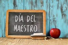 Diametro del maestro, giorno degli insegnanti nello Spagnolo Fotografia Stock