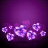 Diamind shape heart Royalty Free Stock Image