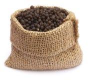 Diammonium phosphate fertilizer. In sack bag Royalty Free Stock Photo