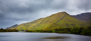 Diamon Hill and Kylemore lake Royalty Free Stock Photos