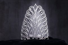 Diamon-Silber-Krone für Fräulein Pageant Beauty Contest, Crystal Tia stockbild