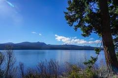 Diamond湖在俄勒冈` s Umpqua森林里 免版税库存照片