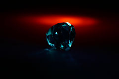 Diamond #1. Diamonds in front of black background Royalty Free Stock Images