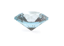 Diamond. Gemstone isolated on white background Stock Photo