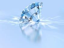 Diamond. Perfect diamond with light relections Royalty Free Stock Photo