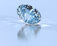 Diamond. Perfect diamond with light relections Royalty Free Stock Photos