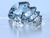 Diamond. Perfect diamond with light relections Stock Images