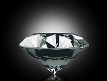 Diamond. 3d Diamond on black background Stock Photos