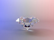 Diamond. 3d render of round brilliant cut diamond perspective Stock Photo