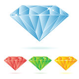 Diamond. Illustration in four different colors royalty free illustration
