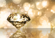 Diamond. With blurred lights in the background vector illustration