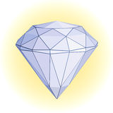 Diamond. A beautiful and shiny diamond Royalty Free Stock Photo