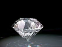 Diamond. 3d diamond on a black background Stock Photos