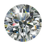 Diamond. Isolated on white, realistic vector illustration royalty free illustration