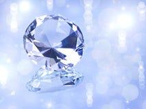 Diamond. Beautiful diamond on blue background Stock Photos