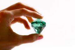 Diamond #2. Diamonds in a hand of a woman Stock Images