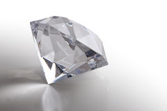 Diamond. Big gem diamond  isolated on white Royalty Free Stock Photography