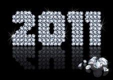Diamond 2011 new year.  Royalty Free Stock Photography