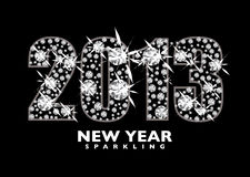 Diamond 2013. Diamond icon for the New year 2013 with black background Stock Image