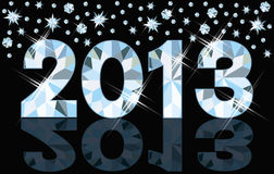 Diamond 2013 New Year banner. Illustration Royalty Free Stock Photos