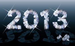 Diamond 2013 New year banner. Vector illustration Royalty Free Stock Photos
