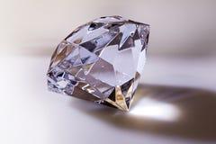 Diamond. Big gem diamond with light reflection Stock Photography